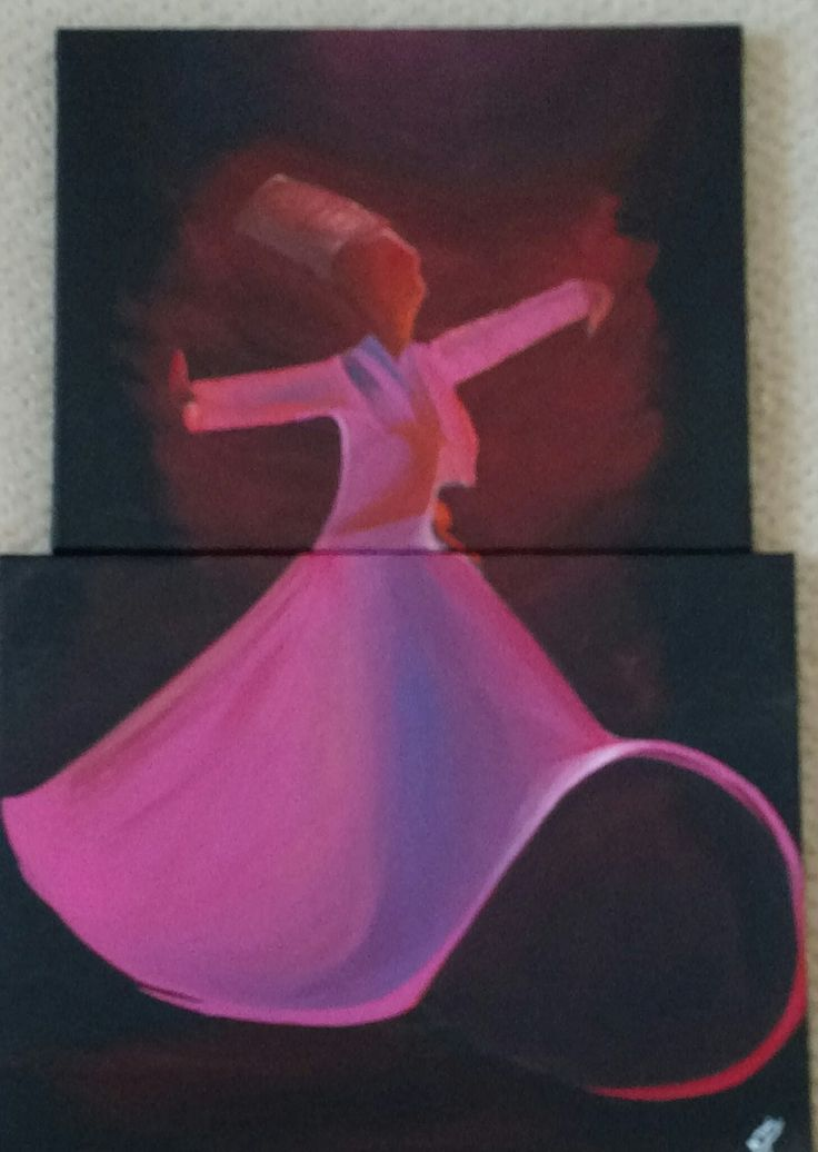 Meditate(The Sufi Dance)(Acrylic)