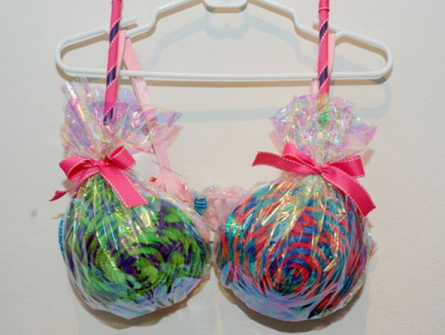 As part of a Think Pink fundraiser several highly decorated bras will be worn by local men at the 2nd Annual Julie Richardson Procter 5K Rib...