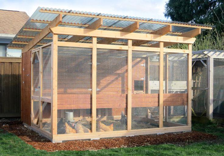 The garden loft large walk in chicken coop plans for Enclosed chicken run plans