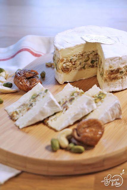 Camembert Farci {Noix de cajou, Pistache & Figue}
