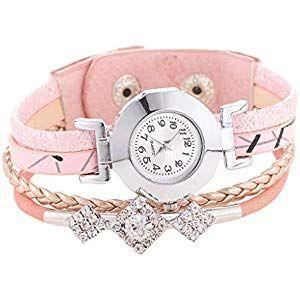 Damen Analog Uhr mit Leder Armband Beige #Baumarkt #Sicherheitstechnik #Arbeitss…