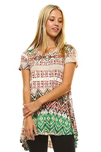 Frumos Women's 5041B Short Sleeve Print Tunic Top Jade Gold Medium  Special Offer: $17.75  455 Reviews We,Frumos Apparel, are a new clothing company seeking to positively impact and change the fashion industry.We strive to unify different cultures and diversities through fashion....