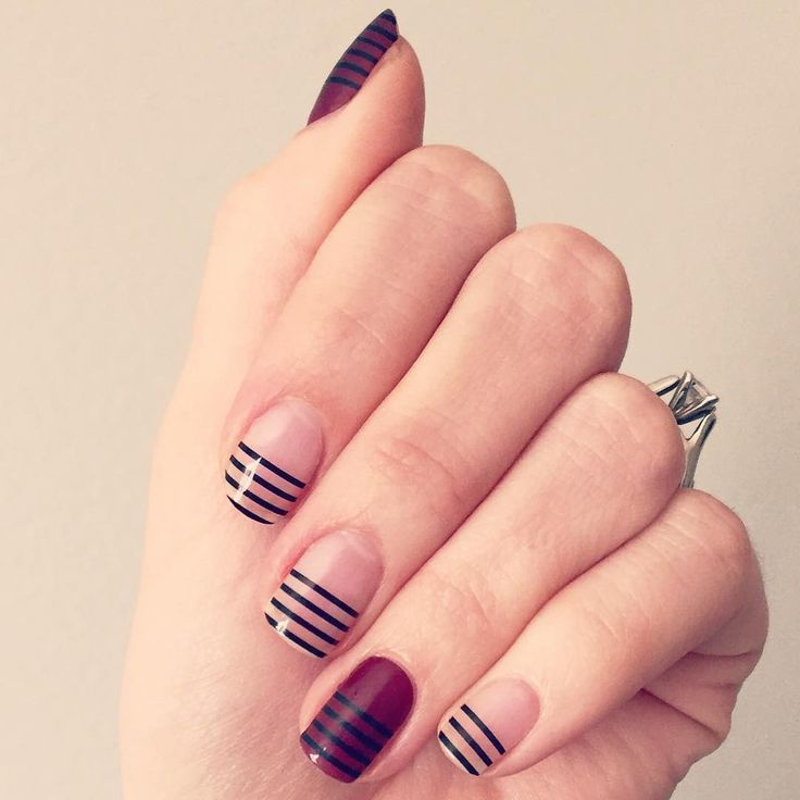 25 unique striped nail art ideas on pinterest hibiscus nail art 60 manicures that prove striped nail art is definitely having a moment prinsesfo Gallery