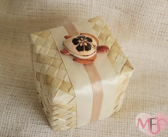 Hawaiian Wedding Favor Boxes : Turtle Hawaiian Wedding Favor Box by MyFAVORiteSource wedding favors ...