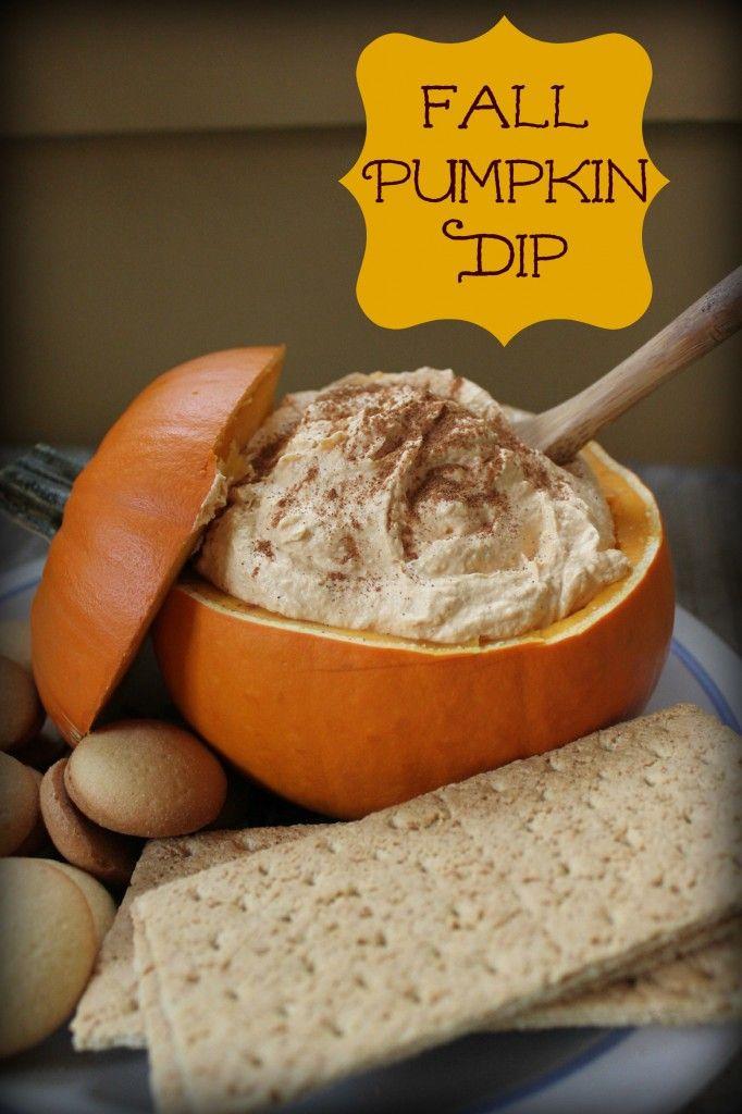 a super easy recipe for fall pumpkin dip