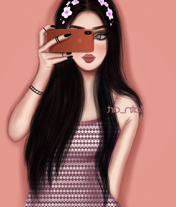 تصميم بنات كرتون تصميم صور كرتونية صور كرتون للفيس بوك رمزيات بنات كرتون Beautiful Girl Drawing Girly M Cute Girl Drawing