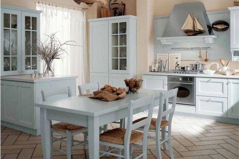 Морские мотивы в интерьере кухни