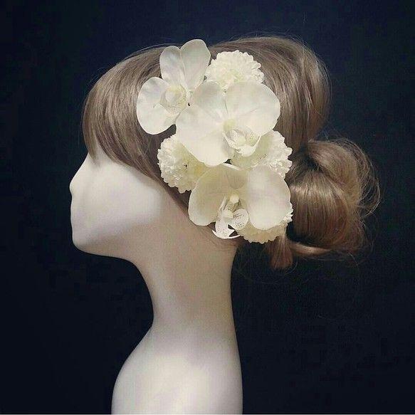 上品胡蝶蘭♡飾れるフラワーBOX髪飾り ヘアアクセサリー BONNIE FLOWER ハンドメイド通販・販売のCreema