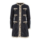 Dark Blue Detailed Coat