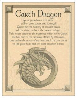 Pagan Parchment Poster - Earth Dragon | The Magickal Cat Online Pagan/Wiccan Shop