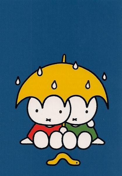 Nijntje samen onder de paraplu (Miffy) www.cooleouders.wordpress.com