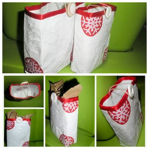 Make a fused plastic gift bag for holidays, birthdays or anyday!
