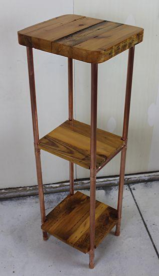 Reclaimed Old Growth 2x4 U0026 Copper Pipe Tower Shelf By Paul Segedin And  Urban Prairie Design