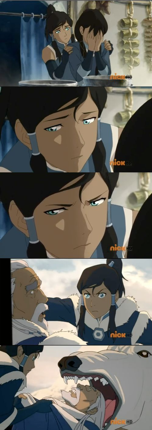 """Don't mess with Korra's family... """"Just promise me you won't do anything rash."""" yeah right."""