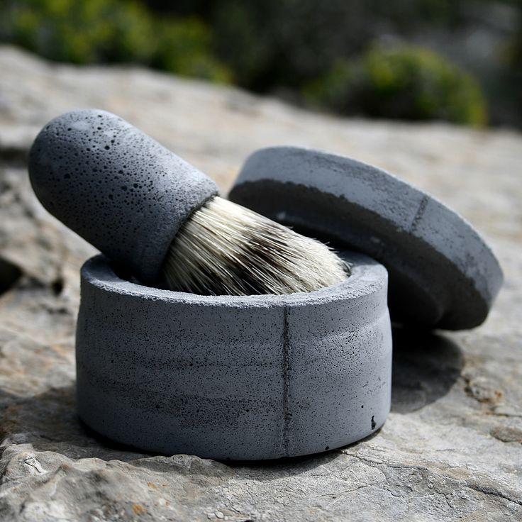 shaving in style -concrete shaving bowl