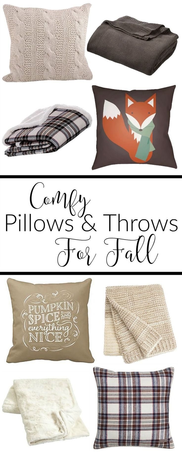The most comfy pillows and throws perfect for Fall decorating