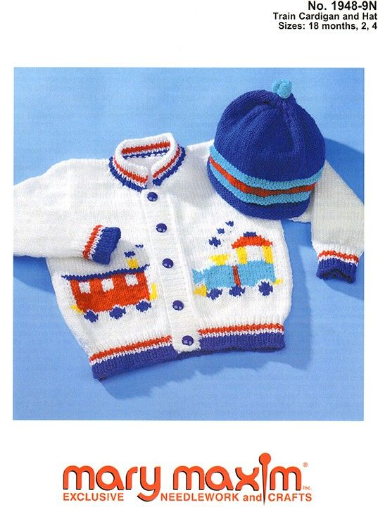 Knit this cardigan and hat for your little one.