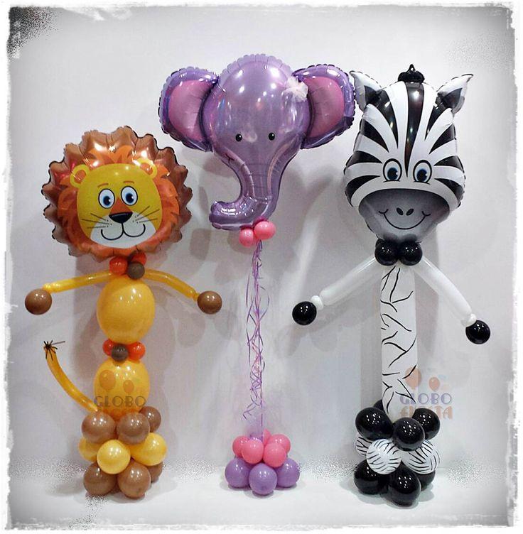 www.globofiesta.com, diferentes propuestas con estos globos #qualatex con forma de animalitos