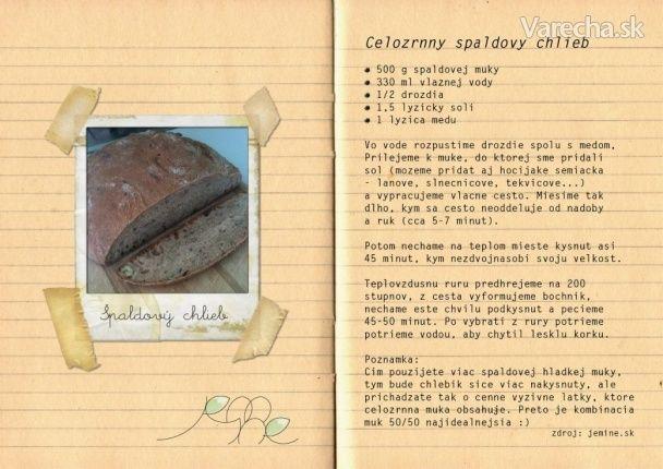 Špaldový chlieb - Recept