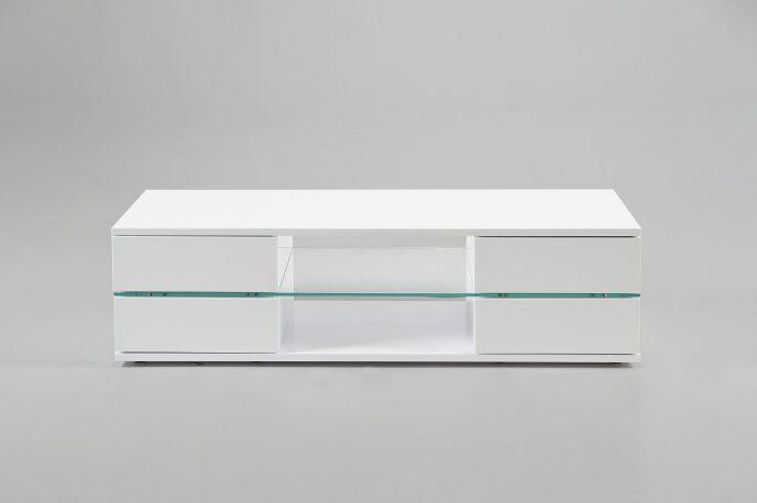 Biała szafka RTV pod telewizor H000012027 - Sanit-Express™