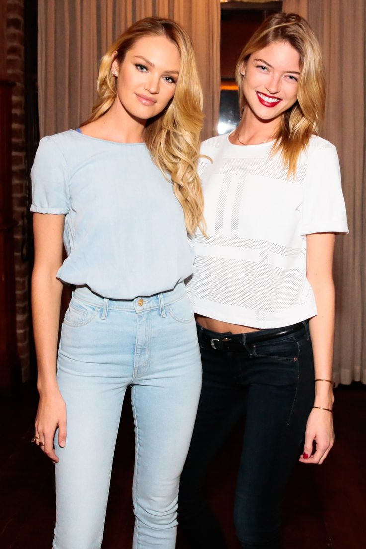 New York Fashion Week's Party Animals - Candice Swanepoel and Martha Hunt
