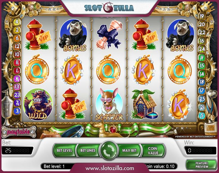 Here is a quick way to cheer up! Diamond Dogs free slot machine powered by Net Entertainment will enchant you at first spin! Play this stunning mix of premium quality graphics, cool sounds and fancy animations! Enjoy!
