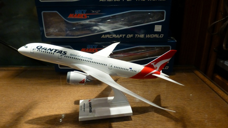 I had to buy this model from the Boeing factory shop as QANTAS had just cancelled their order for B787s :-(