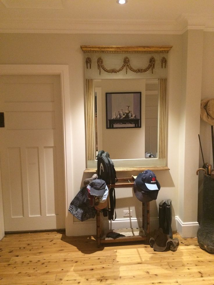 Entrance hall mirror with my fave painting reflected in it