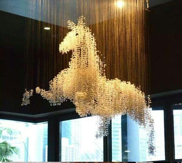 Horse Chandelier At Thai Foon Restaurant Darling Harbour