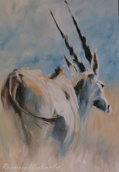 Eland, Acrylic on stretched canvas. Wildlife Gallery - Art by Rosemary Martin