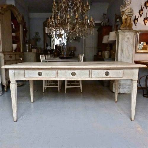 19TH CENTURY SWEDISH GUSTAVIAN STYLE TABLE in from Georgia Lacey