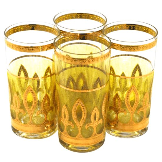 Culver Glass tumblers S/4