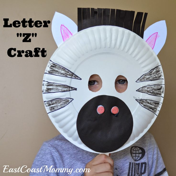 Alphabet Crafts - Letter Z {Zebra mask and free printing practice printable}