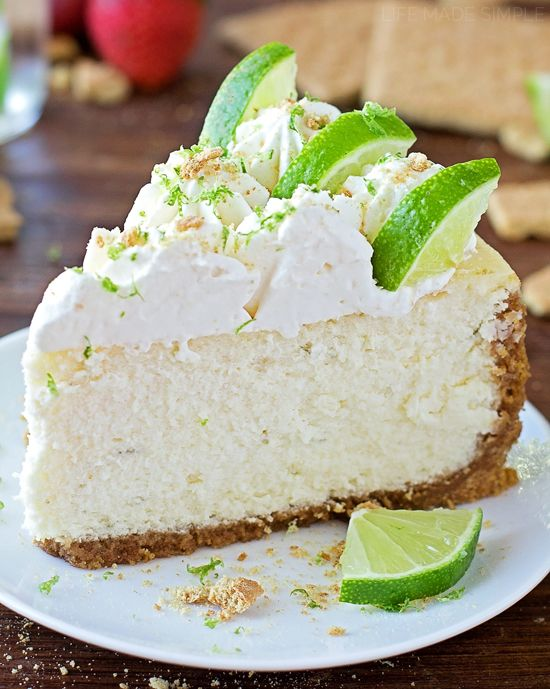 This thick and creamy key lime cheesecake is the perfect combination of sweet and tart!