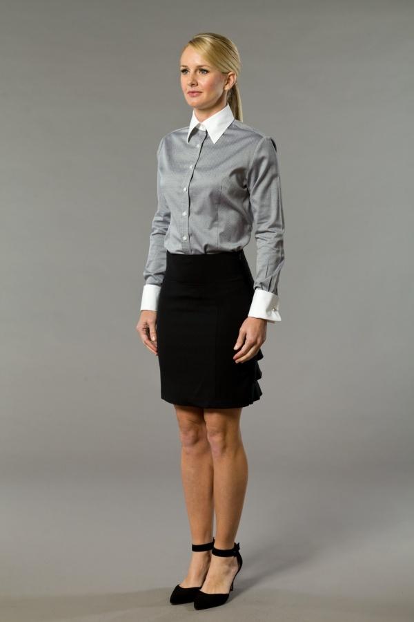 Preppy Black White Women 39 S Business Shirt