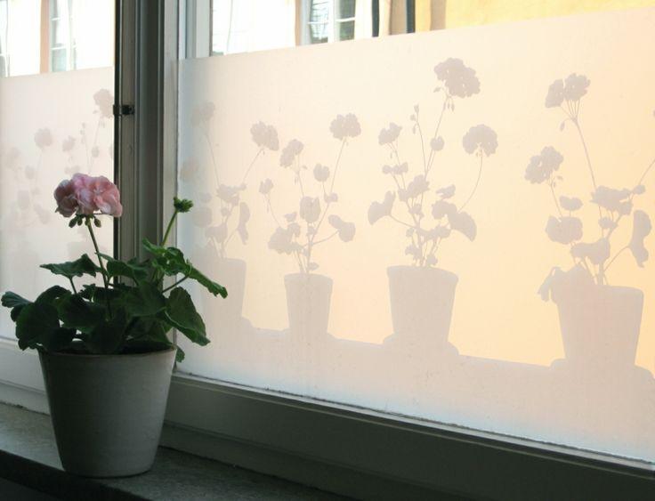Beautiful blickdichte Fensterfolie selbstklebend mit Blumenmuster