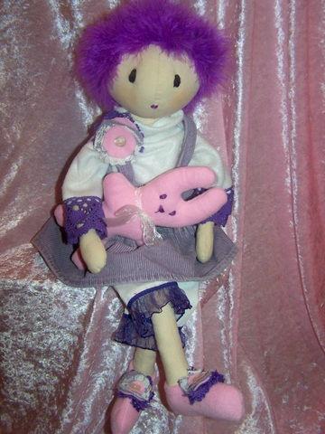 Lala z króliczkiem - doll with rabbit