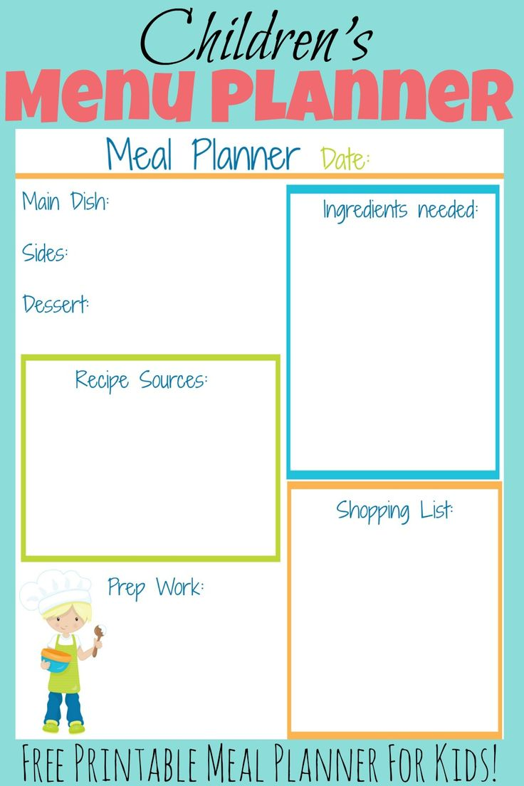 free printable menu templates for kids - the 25 best free meal planner ideas on pinterest meal