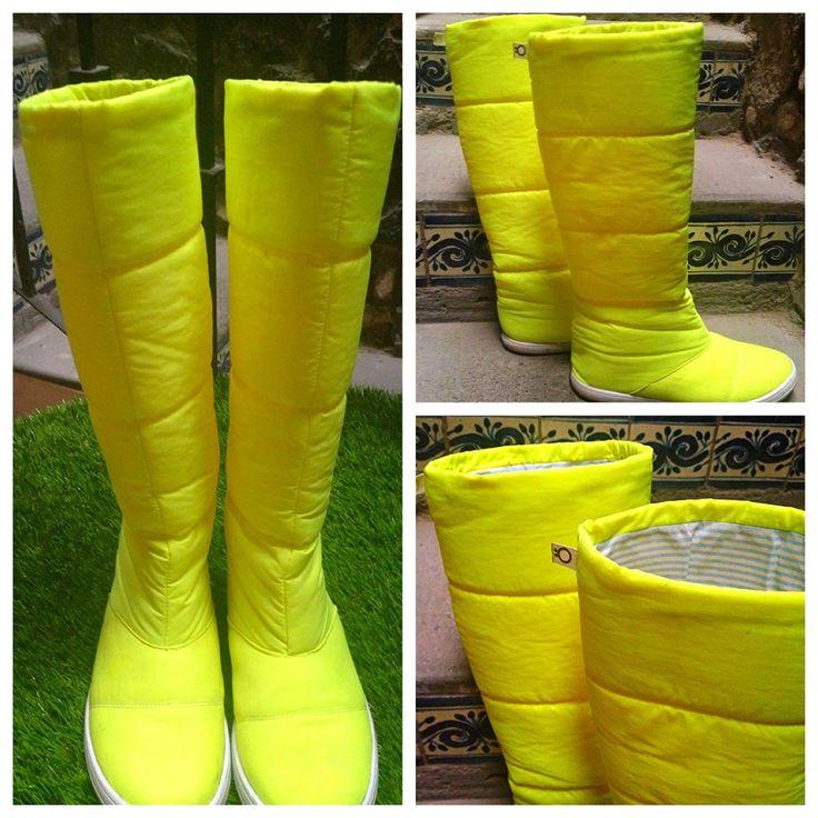 Bota impermeable/amarillo