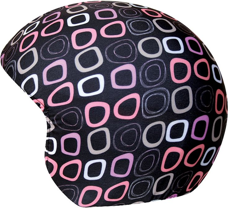 Coolcasc Printed Cool Ski/Snowboard Helmet Cover, Black Retro