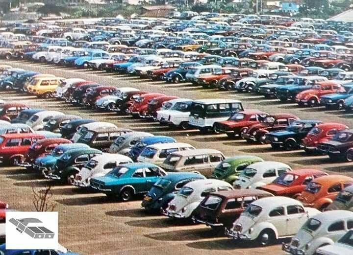 Estacionamento nos anos 70 no Brasil