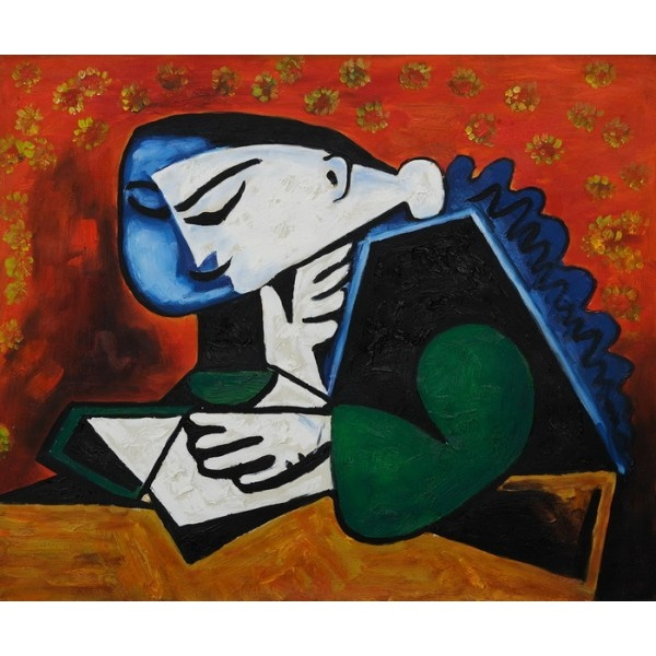 Picasso - Girl Reading Oil Painting for sale on overArts.com