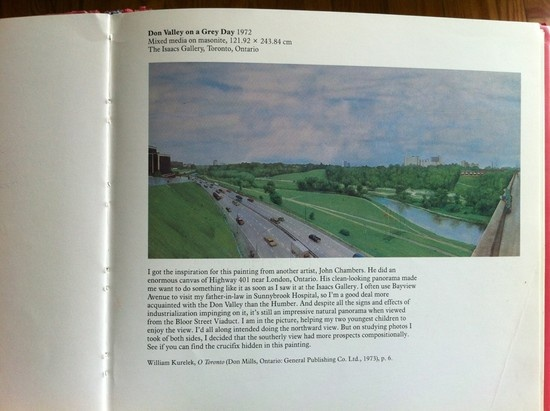 """Don Valley on a Grey Day"" (William Kurelek, 1972) - Overlooking the DVP from the Bloor viaduct. Toronto"