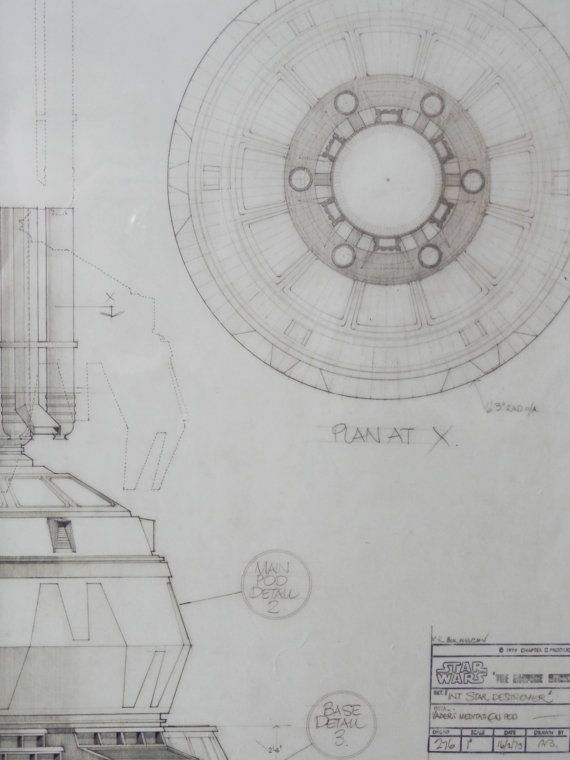 14 best star wars blueprints large frames images on pinterest star wars blueprint of darth vaders mediation pod taken from the star wars blueprint book cut and fixed into frames to offer an unusual art piece malvernweather Images