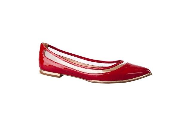 Zapato ballerina rojo transparente primavera verano 2013 2014