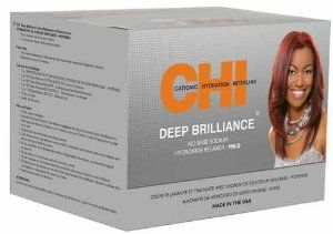 CHI Deep Brilliance No Base Sodium Hydroxide Relaxer Kit - MILD by CHI. $19.75. Relaxes hair from the inside, out. The most innovative relaxers, which respect the integrity of the hair. Chi Deep Brilliance No Base Sodium Hydroxide Relaxer - Mild.   Features: - The most innovative relaxers, which respect the integrity of the hair. - Relaxes hair from the inside, out.  Kit contains: - 1lbs Chi Deep Brilliance No Base Sodium Hydroxide Conditioning Relaxer - Normal - 2...