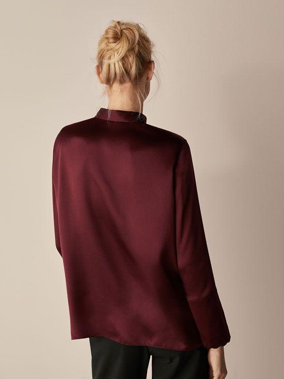 SEIDENBLUSE MIT WELLEN für DAMEN - Hemden und Blusen - Hemden auf Massimo Dutti für Herbst Winter 2017 für 59.95. Natürliche Eleganz!