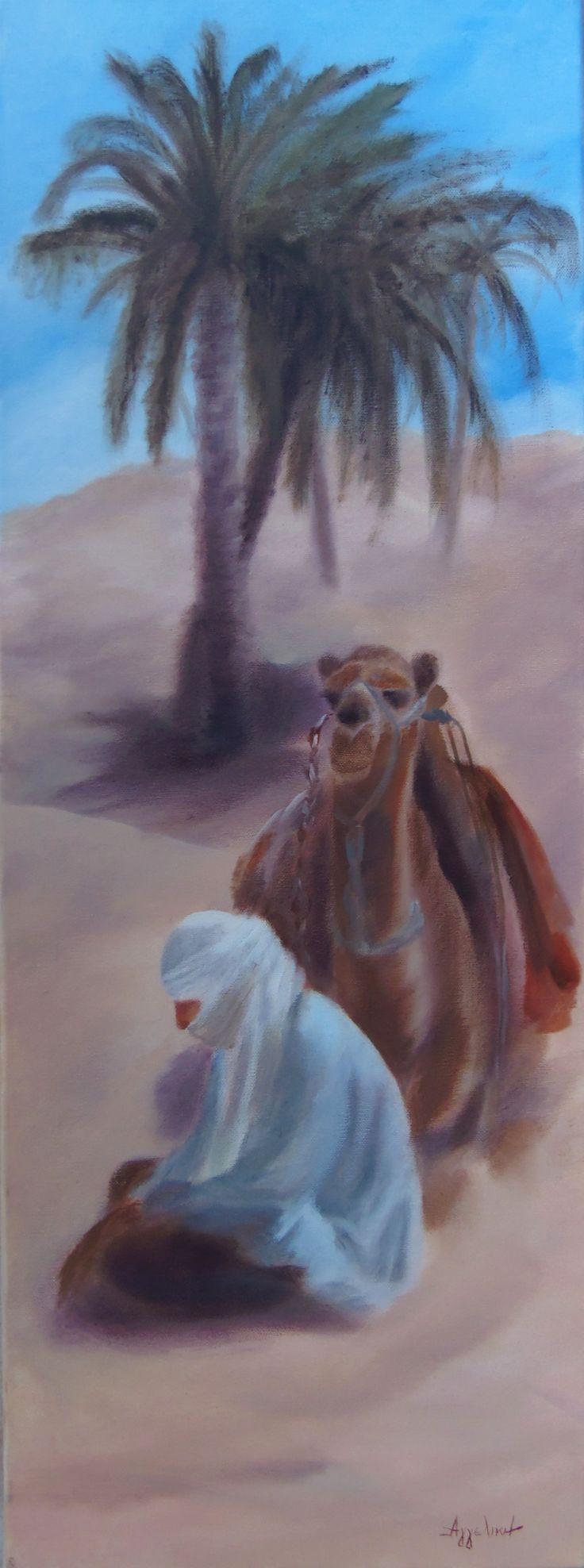 'Beduin' by ΑγγελικΗ, 30X80cm, oil on canvas