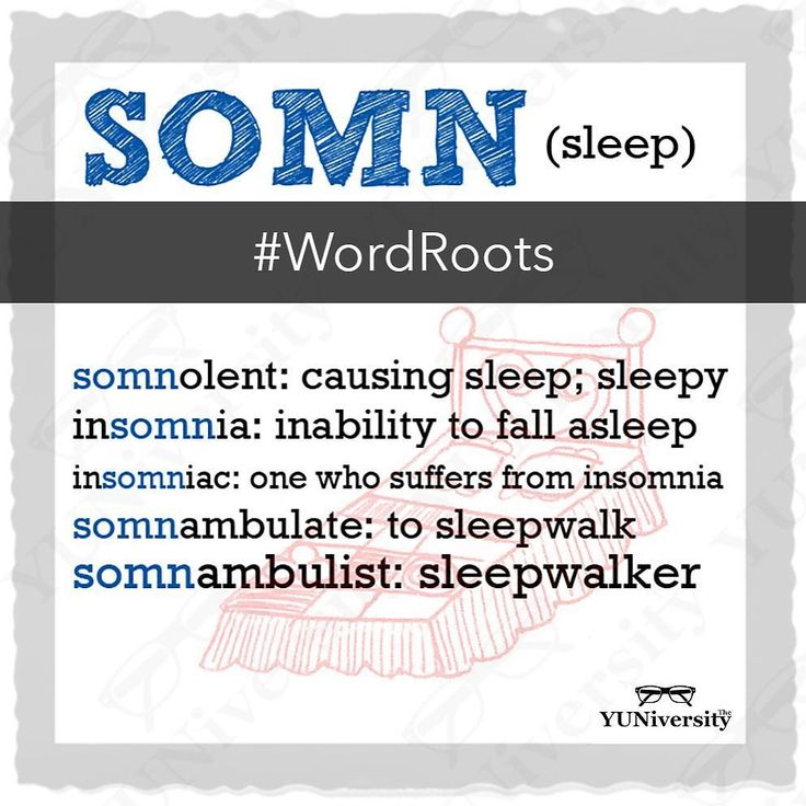 """""""SOMN"""" comes from Latin for """"sleep"""" """"sleeping""""; """"dreams"""" and """"dreaming""""; some of the most common words with this root include """"somnolent"""" """"insomnia"""" and """"somnambulist.""""  #vocabulary #wordroot #somn #insomnia #somnambulist #somnolent #latin #english #sat #testprep"""