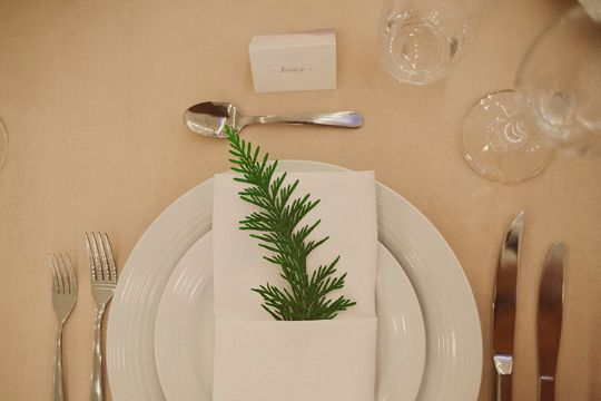 Squirrelly Minds Simple Clean Table Setting With A Hint